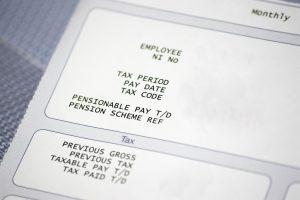 Blank pay slip